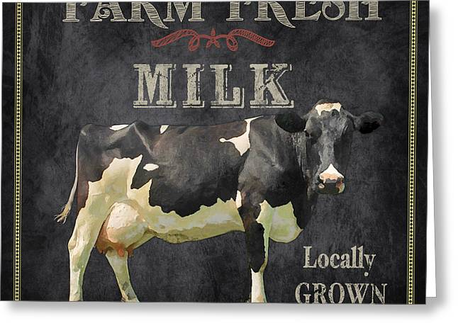 Locally Grown Digital Art Greeting Cards - Farm Fresh-JP2635 Greeting Card by Jean Plout