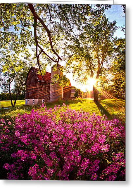 Greeting Cards - Farm Fresh Greeting Card by Phil Koch