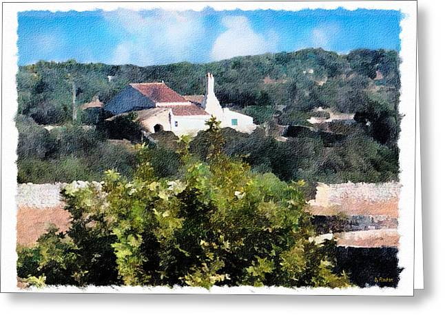 Ebsq Greeting Cards - Farm House Greeting Card by Dee Flouton