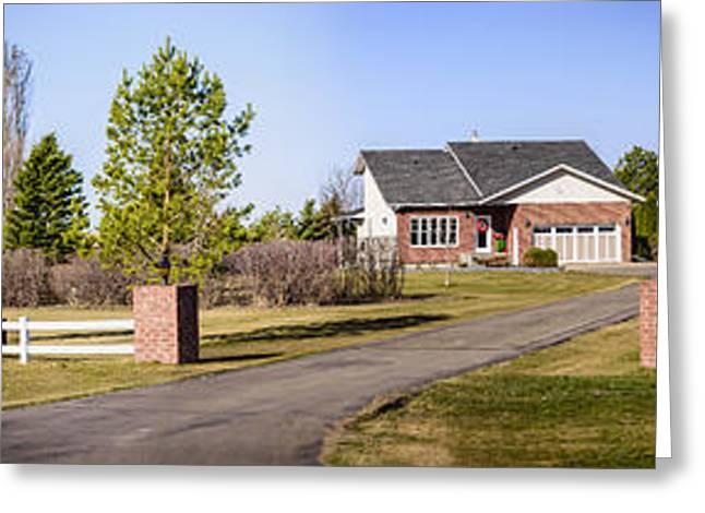 Entrance Door Greeting Cards - Farm house in Canada Greeting Card by Viktor Birkus
