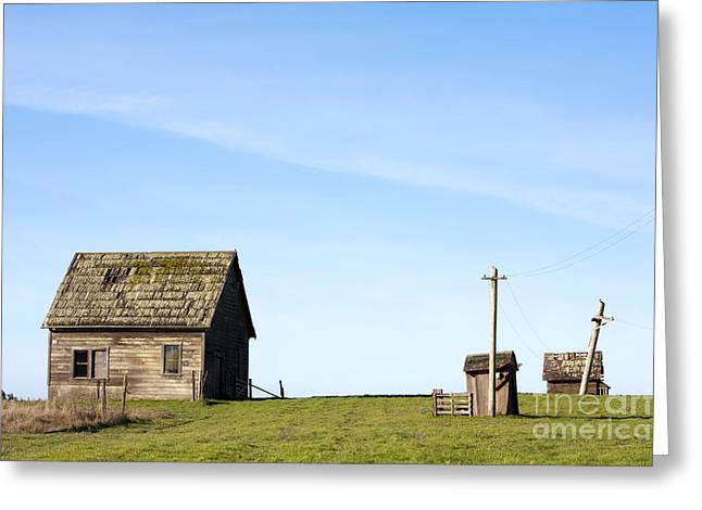 Outbuildings Greeting Cards - Farm House, Mendoncino, California Greeting Card by Paul Edmondson