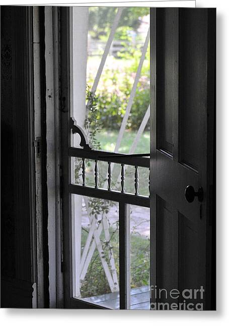 Screen Doors Greeting Cards - Farm House Screen Door Greeting Card by Wilma  Birdwell