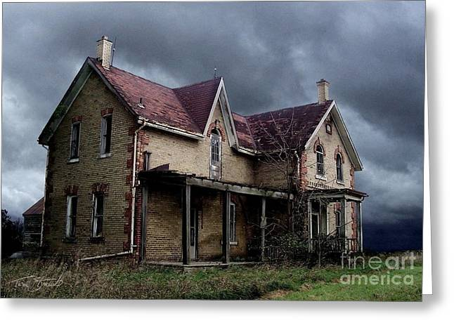 Haunted House Digital Art Greeting Cards - Farm House Greeting Card by Tom Straub