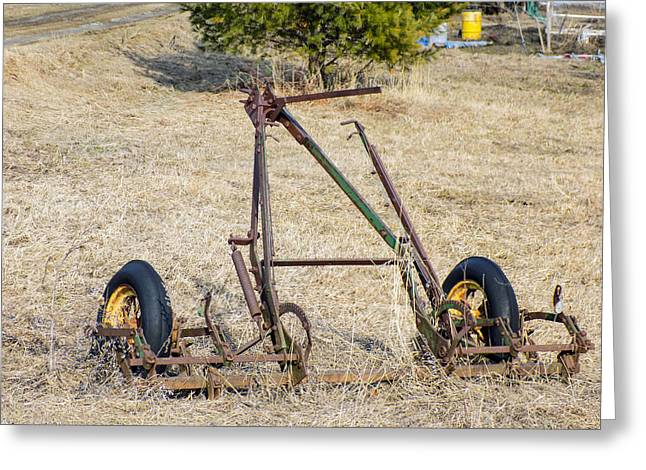 Maine Farms Greeting Cards - Farm Implement Greeting Card by William Tasker