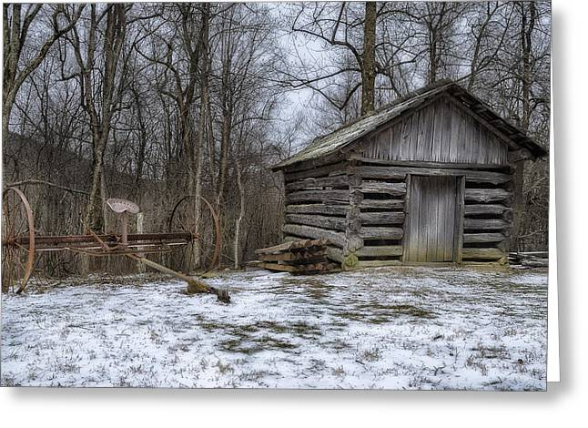 Farm Life from the Past Greeting Card by Steve Hurt