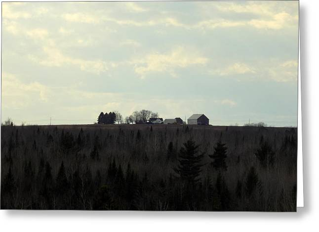 Maine Farms Greeting Cards - Farm on the Hill Greeting Card by William Tasker