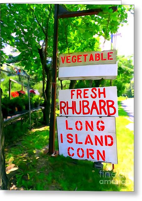 Farm Stand Greeting Cards - Farm Stand Signs Greeting Card by Ed Weidman