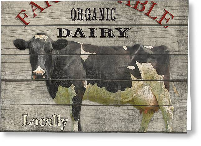 Locally Grown Digital Art Greeting Cards - Farm to Table Dairy-JP2629 Greeting Card by Jean Plout