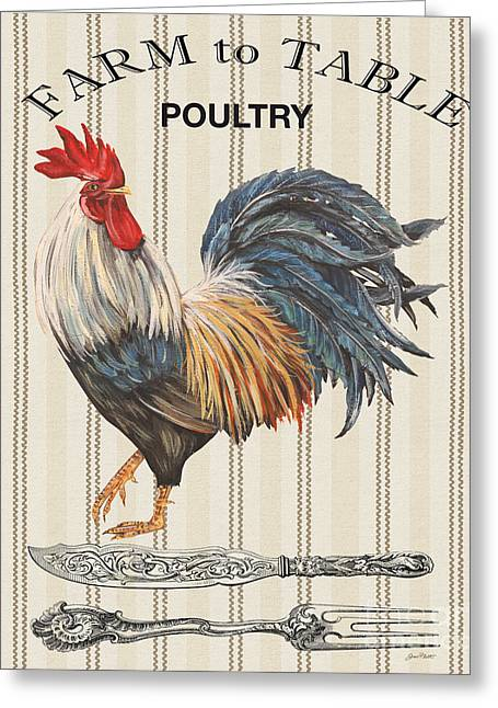 Lettuce Digital Greeting Cards - Farm to Table-JP2109 Greeting Card by Jean Plout