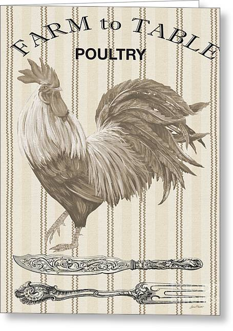 Lettuce Digital Greeting Cards - Farm to Table-JP2110 Greeting Card by Jean Plout