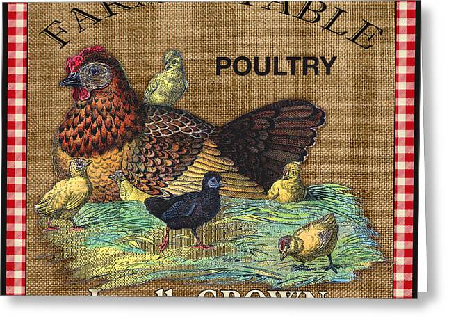 Locally Grown Digital Art Greeting Cards - Farm to Table-JP2388 Greeting Card by Jean Plout