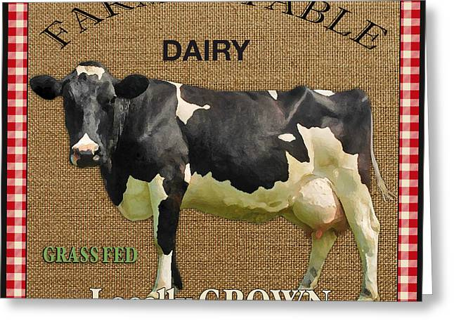 Locally Grown Greeting Cards - Farm to Table-JP2389 Greeting Card by Jean Plout
