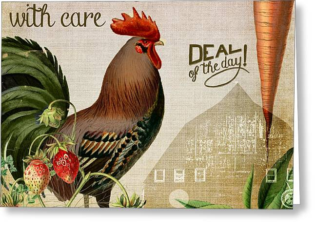 Organic Foods Greeting Cards - Farm to Table Greeting Card by Mindy Sommers