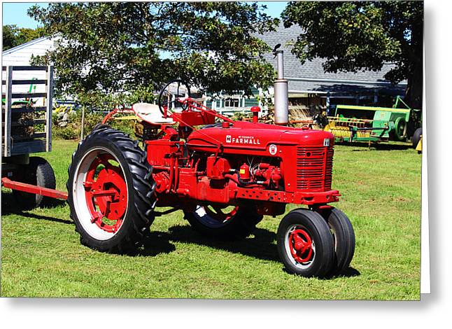Andrew Pacheco Greeting Cards - Farmall at The Country Fair Greeting Card by Andrew Pacheco
