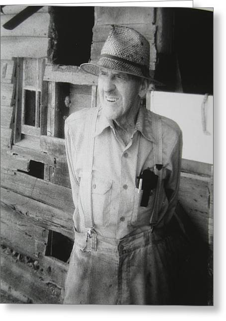 Tennessee Barn Greeting Cards - Farmer Taylor Greeting Card by Lucy Moorman