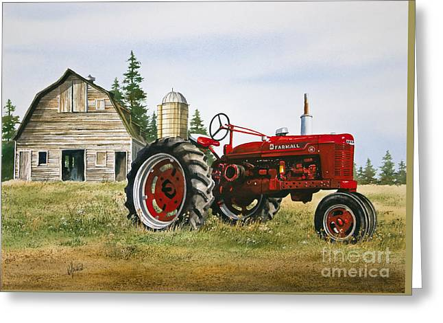 Tractor Prints Greeting Cards - Farmers Heritage Greeting Card by James Williamson