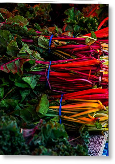 Local Food Photographs Greeting Cards - Farmers Market 1 Greeting Card by A Different Brian Photography