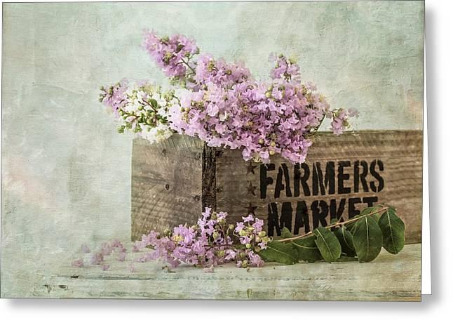 Farmers Market Greeting Card by Kim Hojnacki