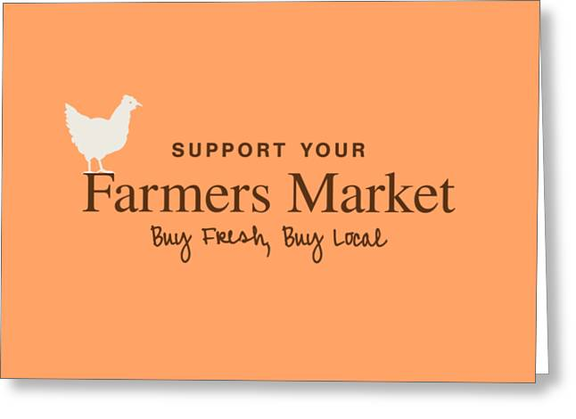 Customizable Greeting Cards - Farmers Market Greeting Card by Nancy Ingersoll