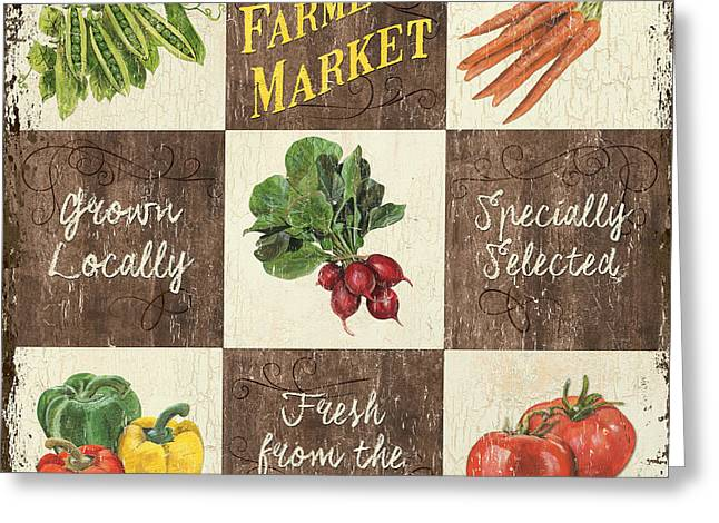 Farmer's Market Patch Greeting Card by Debbie DeWitt
