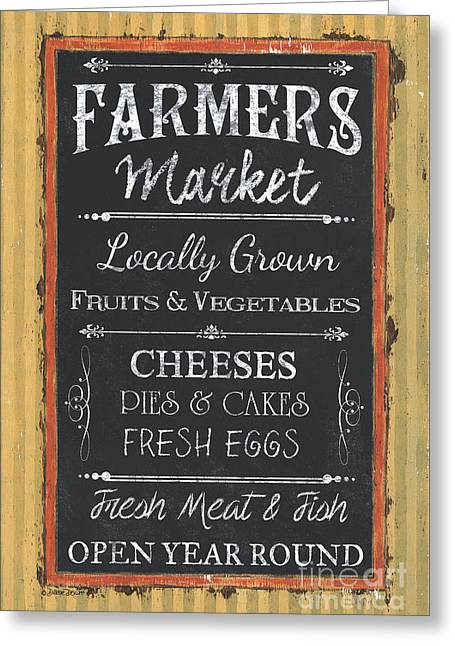 Farmer's Market Signs Greeting Card by Debbie DeWitt