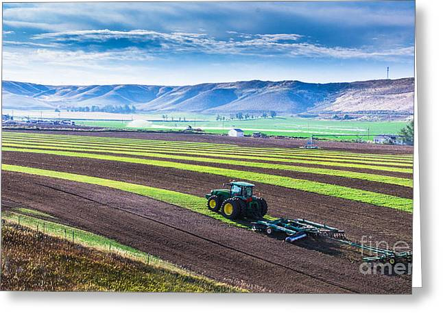 Cultivation Digital Art Greeting Cards - Farming in Paradise Idaho Landscapes by Kaylyn Franks Greeting Card by Kaylyn Franks