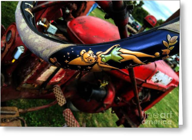 Farming With Tinker Bell  Greeting Card by Steven  Digman