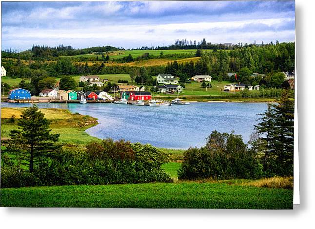 Princes Greeting Cards - Farmlands and Fishing Villages Greeting Card by Carolyn Derstine