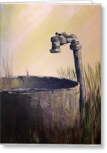 Farmyard Faucet Greeting Card by Kenneth McGarity
