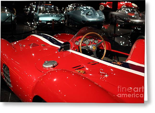 Farrari View Greeting Card by Wingsdomain TransportationArt