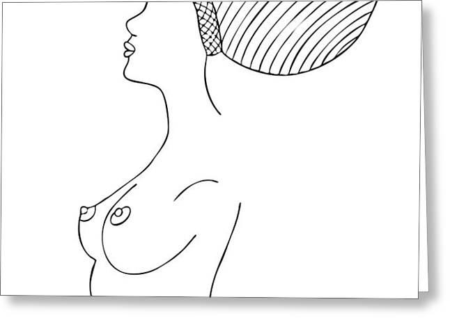 Fashion drawing Greeting Card by Frank Tschakert
