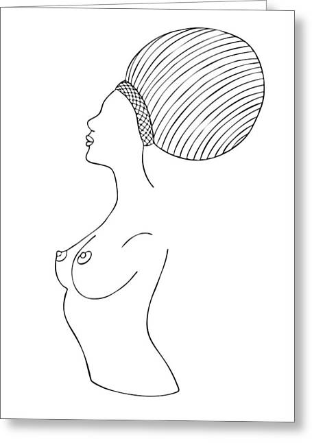 Fashion Illustration Drawings Greeting Cards - Fashion drawing Greeting Card by Frank Tschakert