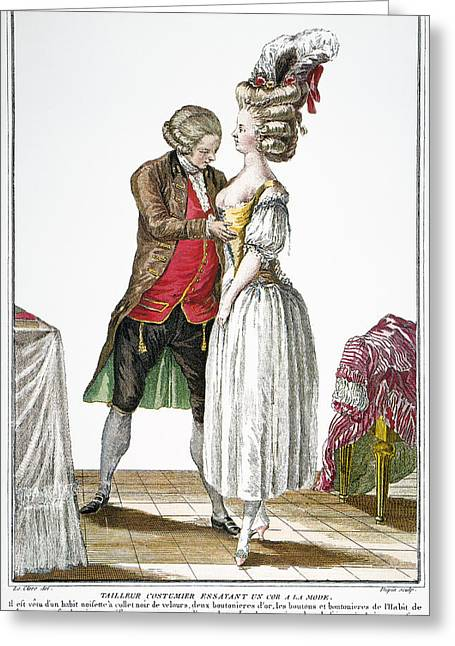 Fashion: French, 1778 Greeting Card by Granger