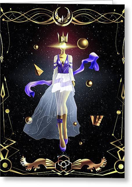 Fashion Goddess No. 2 Greeting Card by Pierre Louis