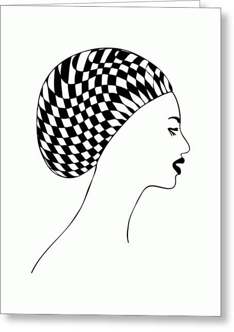 Fashion Illustration Greeting Card by Frank Tschakert