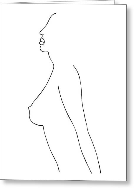 Fashion Sketch Greeting Card by Frank Tschakert