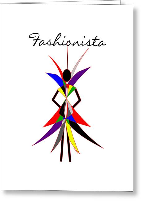 Fashionista Greeting Card by Methune Hively