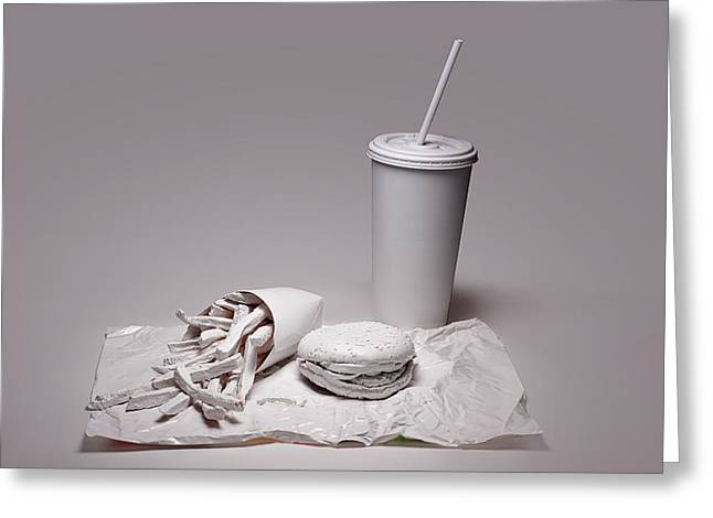 Hamburger Photographs Greeting Cards - Fast Food Drive Through Greeting Card by Tom Mc Nemar