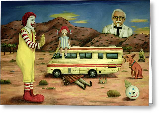 Fast Food Nightmare 5 The Mirage Greeting Card by Leah Saulnier The Painting Maniac