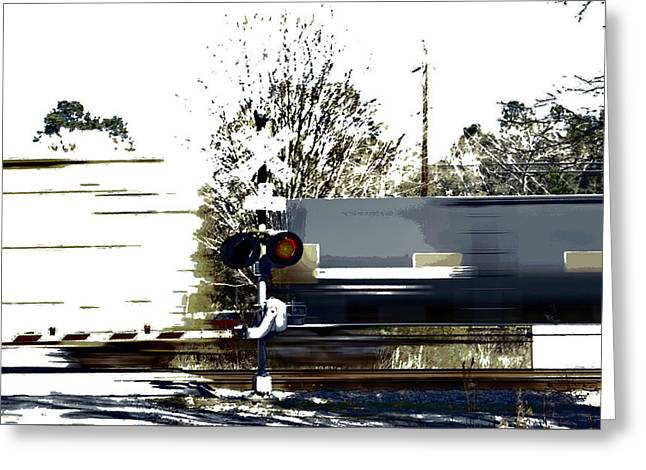 Faster Than A Speeding Train Greeting Card by Skip Willits