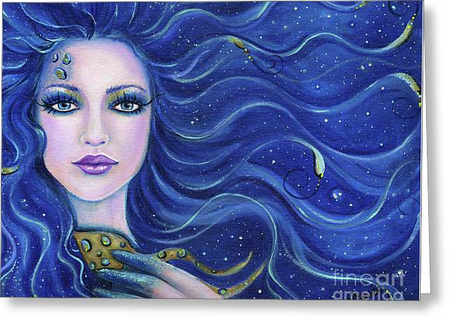 Fatal Beauty Mermaid Art Greeting Card by Renee Lavoie