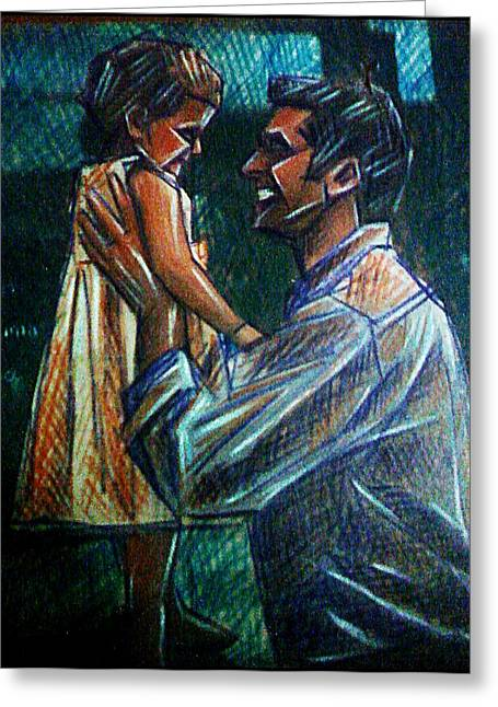 Good Role Models Greeting Cards - Father and Daughter Greeting Card by Paulo Zerbato