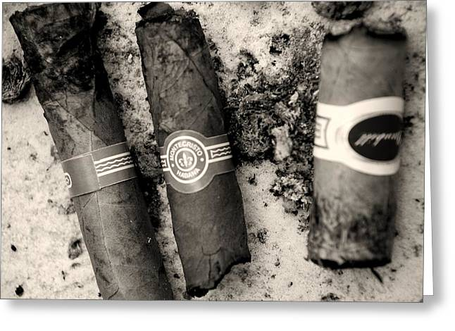 Cigar Greeting Cards - Father husband brother Greeting Card by Laura Burchfield