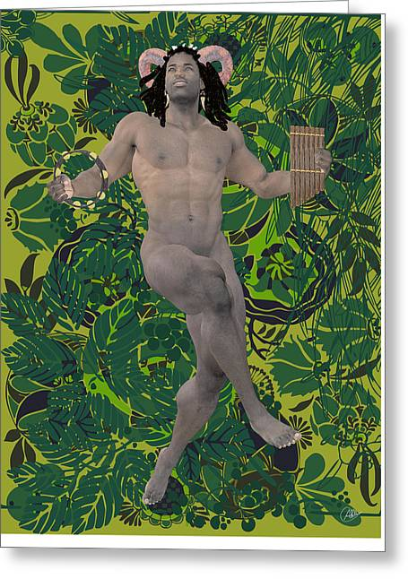 Killer Drawings Greeting Cards - Satyr Dance By Quim Abella Greeting Card by Joaquin Abella