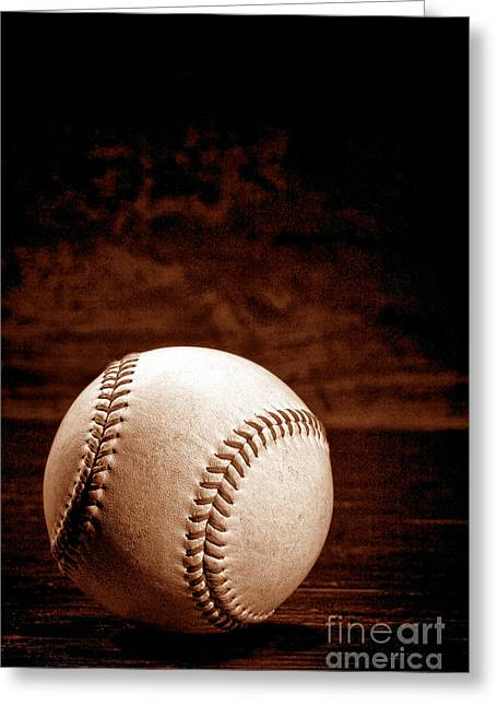 Baseball Game Greeting Cards - Favorite Pastime  Greeting Card by Olivier Le Queinec