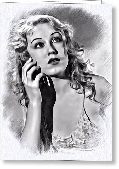 Wray Greeting Cards - Fay Wray Sketch Greeting Card by Scott Wallace