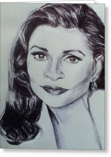 Dunaway Greeting Cards - Faye Dunaway Greeting Card by Billy Jackson