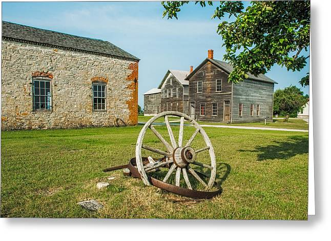 Landscape Posters Greeting Cards - Fayette Wagon Wheel Greeting Card by Paul Freidlund