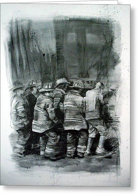 Paul Autodore Greeting Cards - Fdny Greeting Card by Paul Autodore