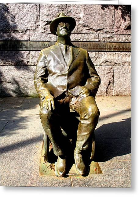 Fdr Memorial 1 Greeting Card by Randall Weidner